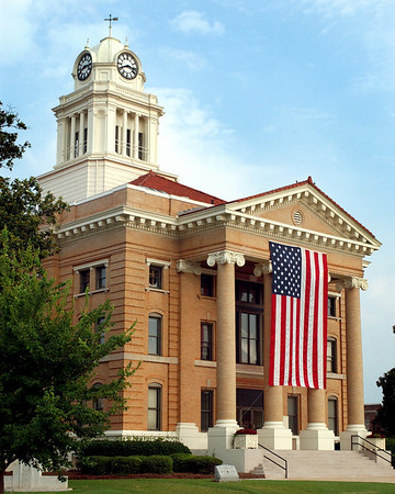 Courthouse with flag