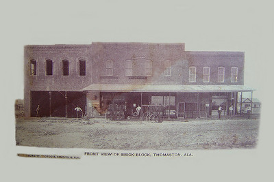 Downtown Thomaston. Photographed by Dad Burnitt, Demopolis, Alabama