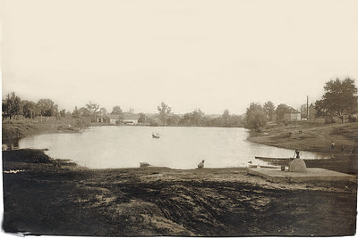 Town pond before it was enlarged.
