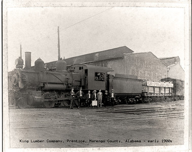 King Lumber Company, Prentice, Marengo County, Alabama - early 1900s - about 3 miles east of Thomaston