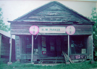 Homer W. Parker's store on west side of Hwy. 25 just south of the Hwy. 25/Hwy. 28 intersection in Thomaston.
