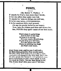 Foxes advertisement
