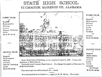 State High School advertisement.