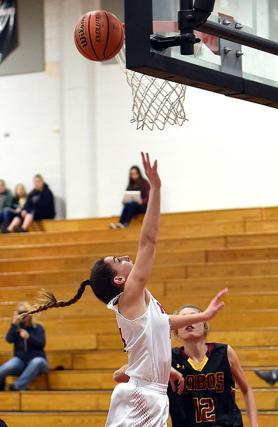 Loveland's (23) Morgan Driscoll during their game against Rocky Mountain' High School on Friday, Jan. 5, 2018, at Loveland High School in Loveland.  (Photo by Jenny Sparks/Loveland Reporter-Herald)