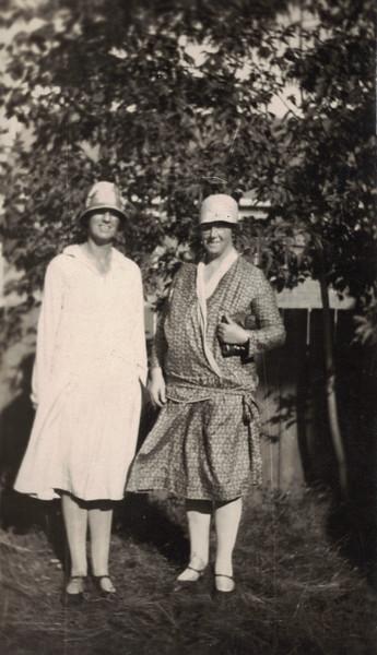 1929 August Millicent Bridgett and Enid Snell