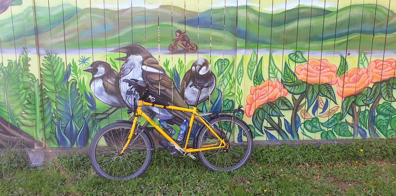 Girl on a Bicycle Mural Upper Hutt  May 19