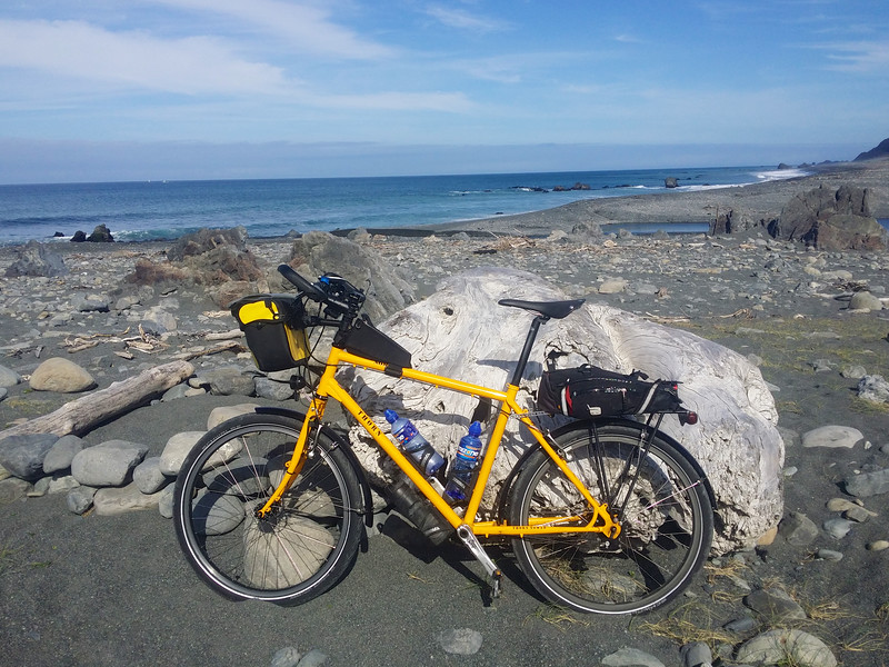 """A nice 90km ride to the very end of the Coast Road, Wainuiomata. The entrance to Wellington Harbour is just around the corner in the distance.<br /> <br /> Ride: <a href=""""https://www.strava.com/activities/488520837"""">https://www.strava.com/activities/488520837</a>"""