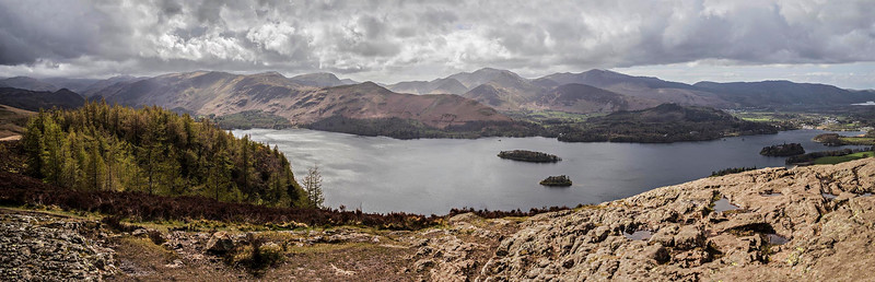 Walla Crag : across Derwent Water to the North Western Fells