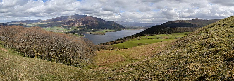 Bassenthwaite Lake and Skiddaw from Sale Fell.