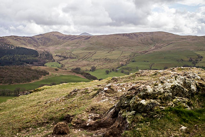 From Sale Fell: Lord's Seat (L) to Broom Fell (R) with Grisedale Pike peeping over the top.