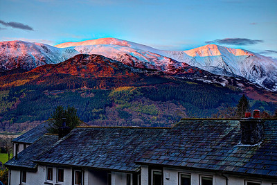 Thornthwaite : Skiddaw from the cottage window