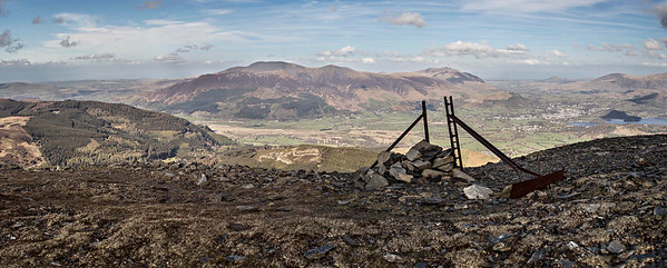 View from the top : Skiddaw and Keswick