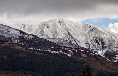 Skiddaw Little Man from the cottage window