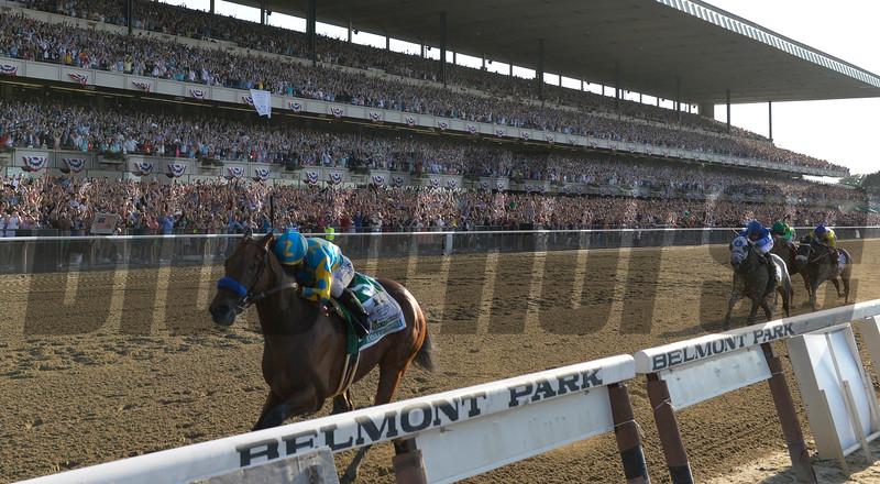 American Pharoah wins the Belmont Stakes.<br /> Skip Dickstein Photo