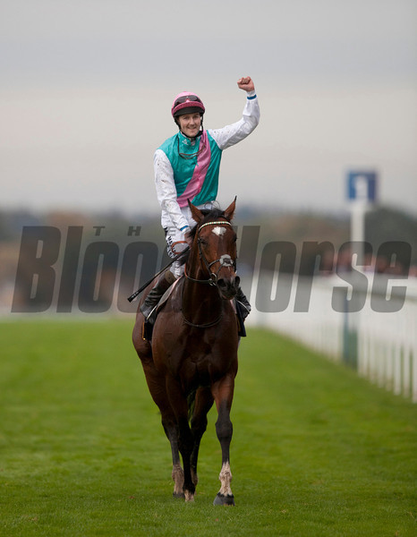 ASCOT SAT 20 OCTOBER 2012  PICTURE: CAROLINE NORRIS<br /> FRANKEL AND TOM QUEALLY AFTER WINNING THE QIPCO CHAMPION STAKES