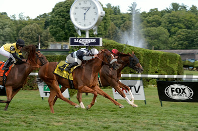 Main Sequence wins the Sword Dancer Stakes 8/17/2014. Coglianese Photos/Chelsea Durand