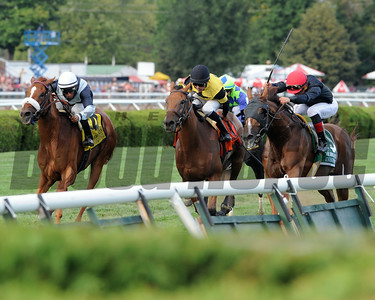 Main Sequence wins the Sword Dancer Stakes 8/17/2014. Coglianese Photos/Lauren King