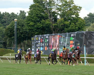 Main Sequence wins the Sword Dancer Stakes 8/17/2014. Coglianese Photos