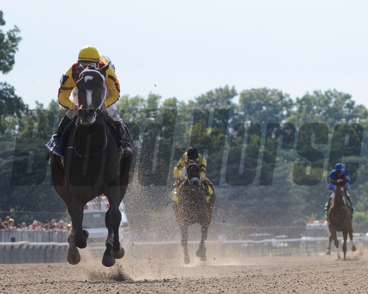 Rachel Alexandra wins the 2009 Mother Goose Stakes (G1).<br /> Coglianese Photos