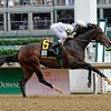 Caption:  Rachel Alexandra with Calvin Borel up wins the Kentucky Oaks (gr. I) at Churchill Downs near Louisville, Ky. on May 1, 2009.<br /> 11-Oaks-1  image571<br /> photo by Anne M. Eberhardt