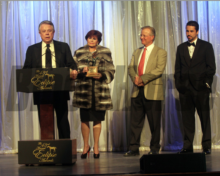 Ben Leon accepts for older female, Royal Delta,  2013 Eclipse winners