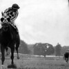 Secretariat wins the 1973 Belmont Stakes sweeping the Triple Crown. <br /> Photo by: Bob Coglianese