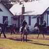 Secretariat with Riva Ridgle on walking ring.<br /> Photo by: Steve Haskin