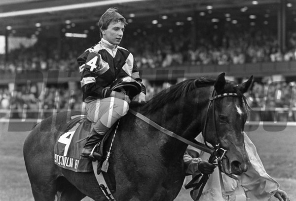 Spectacular Bid after winning the 1979 Blue Grass Stakes at Keeneland