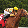 Wise Dan; Jose Lezcano up; wins the Markers Mark MIle; Keeneland race track; photo by Mathea Kelley; Lexington; KY 4/12/13;