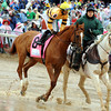 Caption: Wise Dan wins the Woodford Reserve at Churchill Downs near Louisville, Ky. on May 4, 2013.<br /> Photo by Dave Harmon