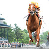 Keeneland Race Course; Lexington; KY 4/21/12; Wise Dan, John Velazquez up, wins the Ben Ali Stakes.<br /> Photo by Mathea Kelley