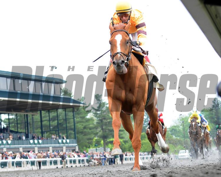 Keeneland Race Course; Lexington; KY 4/22/12; Wise Dan wins the Ben Ali Stakes.<br /> Photo by Mathea Kelley