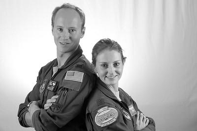 Matt L. and Suzy N.  Brother-Sister USAF pilots.  Still serving.