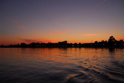 Beautiful summer evening on Tawas Bay.