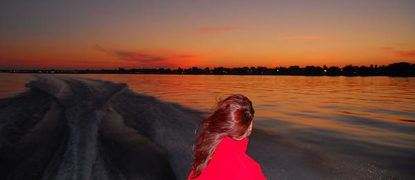 Beautiful summer evening Donzi ride on Tawas Bay.