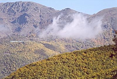 Wild fire on Varnountas, October 2006