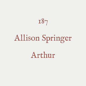00019 - CIC*** - 187 - Allison Springer - Arthur - 01