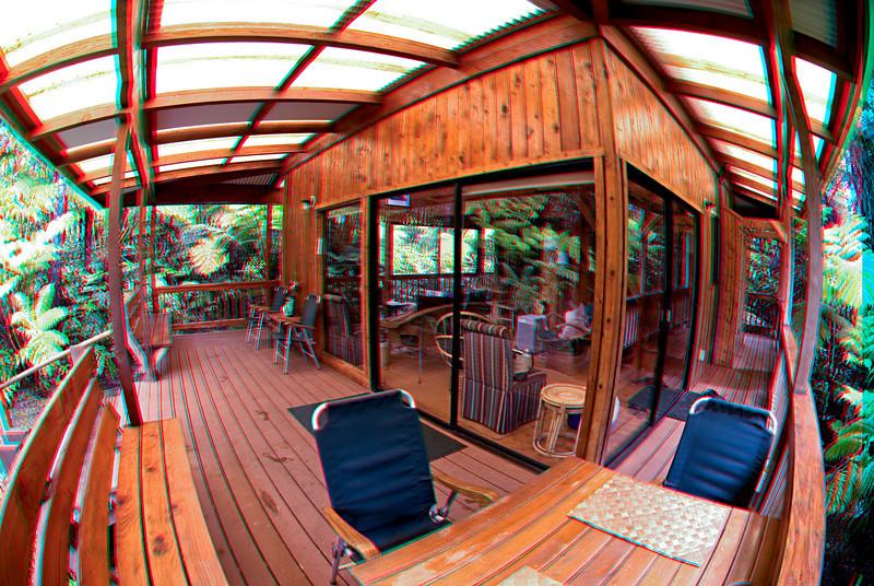 3D image of cabin in Volcano, Big Island Hawaii