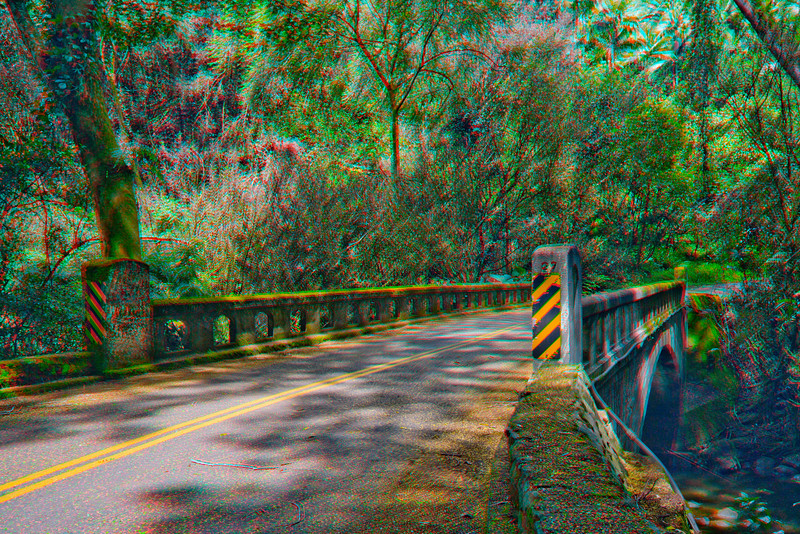 3D image of bridge in Hilo, Hawaii