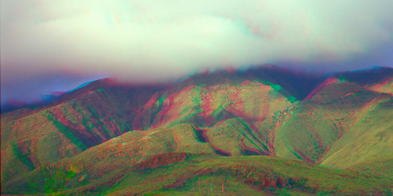 3D image of mountains and valleys in Maui, Hawaii ( Central Pacific Ocean )