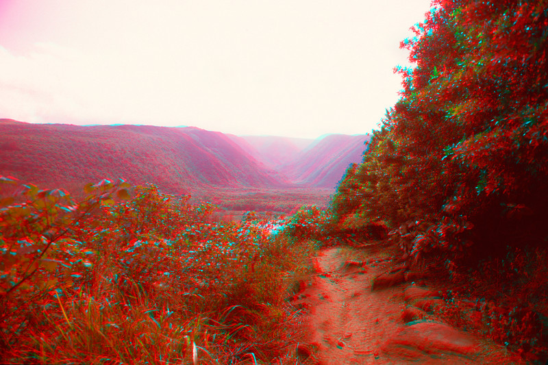 Pololu Valley in 3D, Hawaii