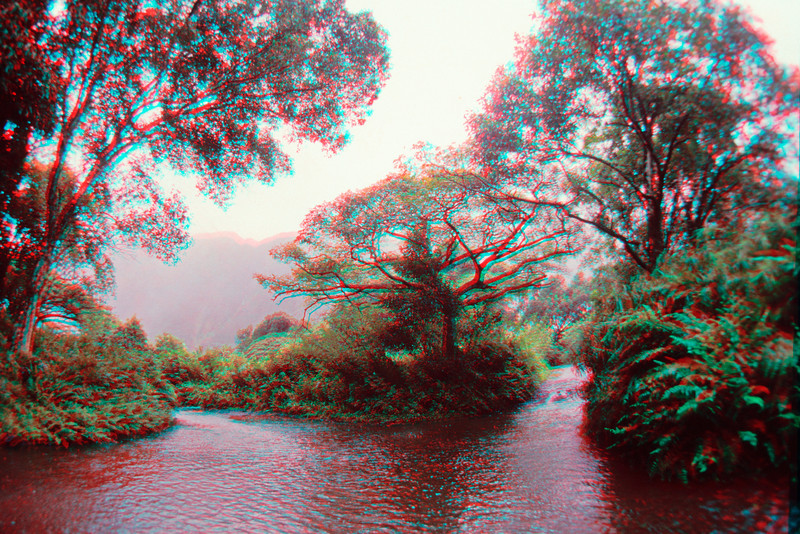 3D image of stream in Waipio Valley.