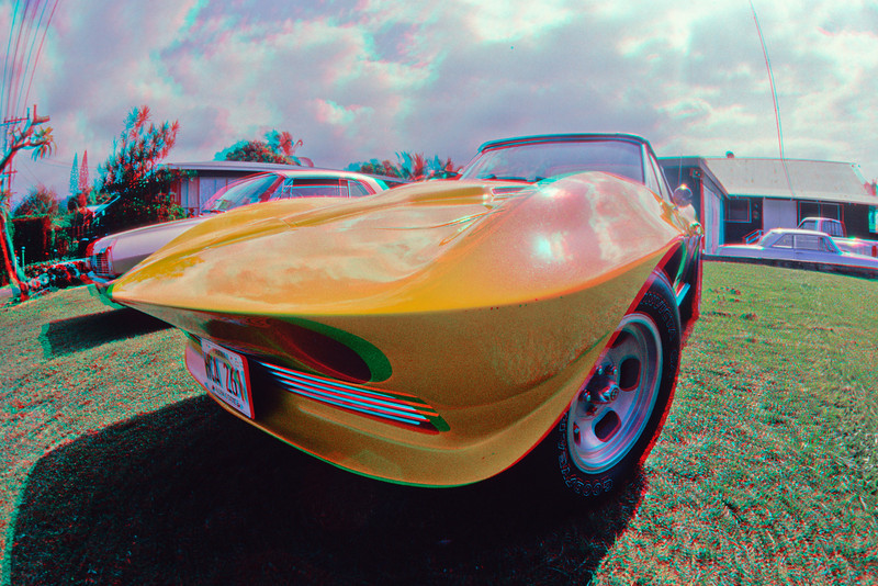 3D image of modified 60's era Chevrolet Corvette Stingray