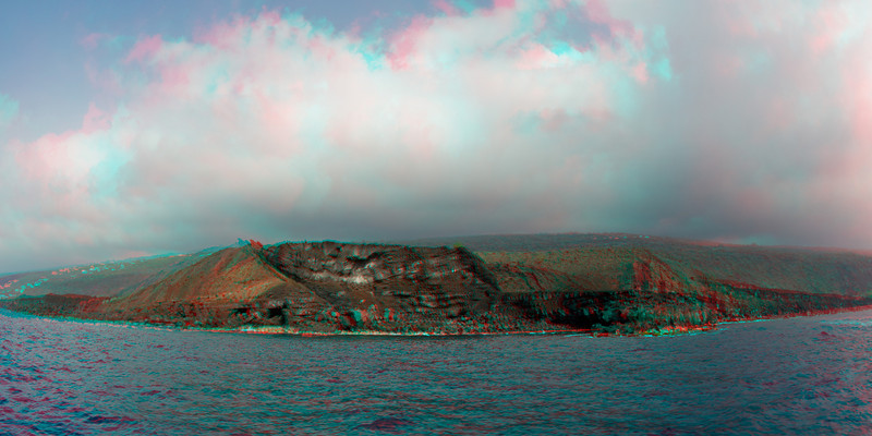 3d image of Au Au Crater, Kona Paradise, Big Island of Hawaii ( Central Pacific Ocean )