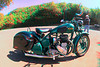 3D image of BSA motorcycle, Kapa'au, Hawaii