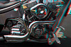 3D image of motorcycle engine, Kona, Hawaii