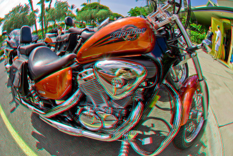 3D image of motorcycle at Big Island Motorcycle Co. in Waikoloa, Hawaii