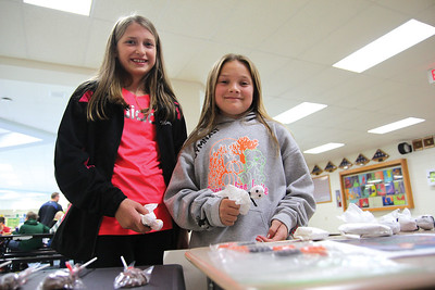 Sixth grade TLE students sell Boo Pops to raise funds for Smile Train.Photo by Jennifer West