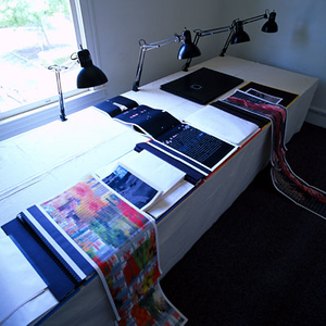 Three Landscapes - the journal - a book in a room
