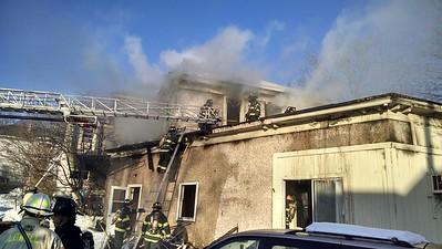 Three-alarm Lowell fire 021717